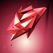 stock photo of spatial  - Ruby spatial technological shape - JPG