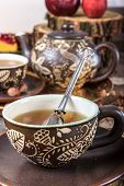 Tea Cup With Strainer In Vintage Old House