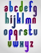 Colorful animated font, rounded lowercase letters with white outline.