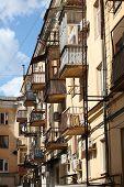 Balconies like birdhouses