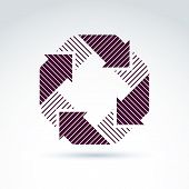 Geometric Abstract Icon, Abstract Symbol, Vector Graphic Design Element.