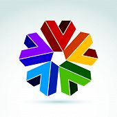Vector abstract checkmarks. Geometric colorful symbol