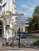 City Of Nice - Road Signpost