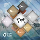 infographic cube box for business concepts, modern triangle design vector illustration