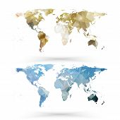 World map template, triangle design vector illustration