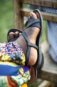 Feet Of An African Man Resting