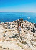 Hiker Woman On Island