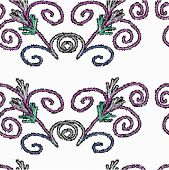 Vector seamless texture of patterned - illustration.