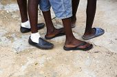 Feet Of African Men In Different Shoes