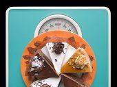 Chocolate cake on weigh-scale - help!