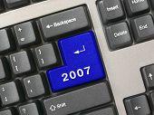 Keyboard -  blue key 2007, new year