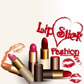 Fashion Vector Background With Lipstick