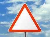 Triangle sign (clear), clipping path for sign