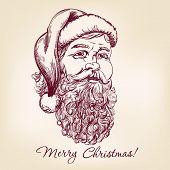 Santa Claus hand drawn vector llustration