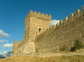 Tower and wall of old fortress
