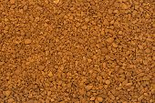 Coffee background, brown granular texture