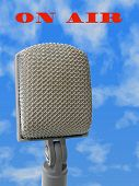 Microphone - on air, file contain clipping path for mike