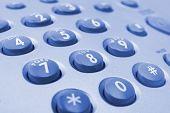 Macro of telephone keypad, business background