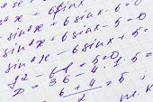 Mathematics formula on paper, abstract education background