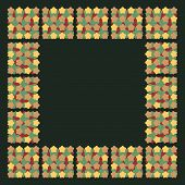 Square seamless pattern from simple coloured shapes.