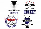 Ice Hockey emblems and badges for clubs