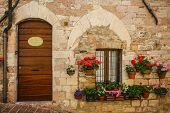 Tuscan village door