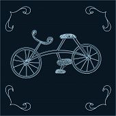 A sketch of a bicycle