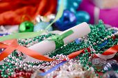 Christmas Ornament With Pearls, New Year Card
