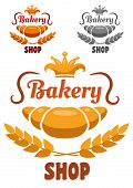 Bakery shop badge or label