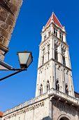 Belltower in Trogir, Croatia - architecture travel background