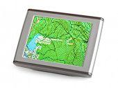 GPS navigator isolated on white background