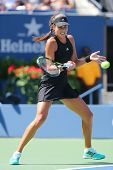 Grand Slam champion Ana Ivanovich during first round match at US Open 2014 against Alison Riske