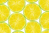 Lime fruit slices - abstract food background