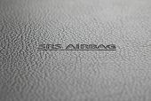 SRS Airbag sign - technology safety background