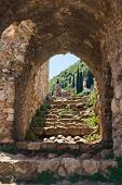 foto of sparta  - Ruins of old town in Mystras - JPG