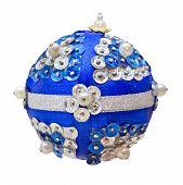 Homemade Blue Christmas Ball