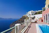 Santorini View (Firostefani) - vacation background