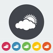 Cloudiness single icon.