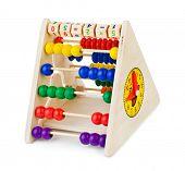 Toy abacus isolated on white background