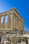 Parthenon temple in Acropolis at Athens, Greece - travel background