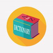 Dictionary Flat Icon With Long Shadow,eps10