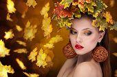 Gorgeous Sensual Girl Autumn Concept
