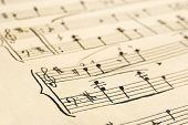 Retro handwritten music sheet - abstract art background