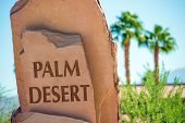 Palm Desert Stone Sign