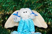 Christmas Vintage Toy Flying Angel