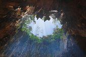 Hole in Batu Cave at Kuala-Lumpur, Malaysia