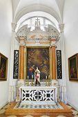 Church interior at Dubrovnik in Croatia - architecture religion background