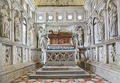 Church interior at Trogir in Croatia - architecture religion background