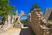 image of sparta  - Ruins of old town in Mystras - JPG