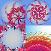 Set of Abstract Rainbow concept background. Vector